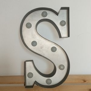 Letter S Wall Decor